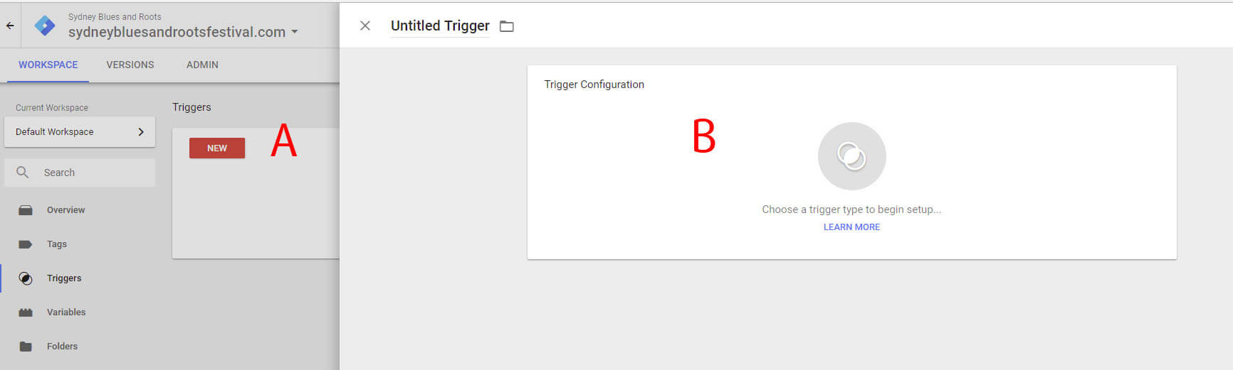 Creating Triggers and Tags Step 4