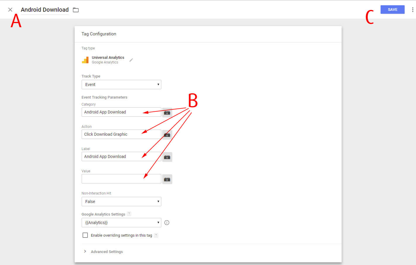 Creating Triggers and Tags Step 16