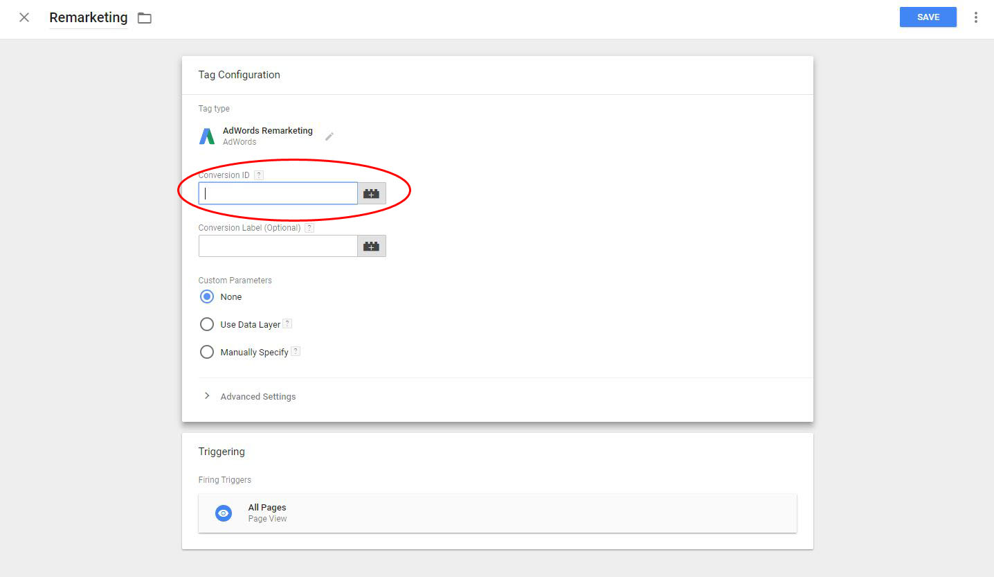 paste your Conversion ID into the Conversion ID field