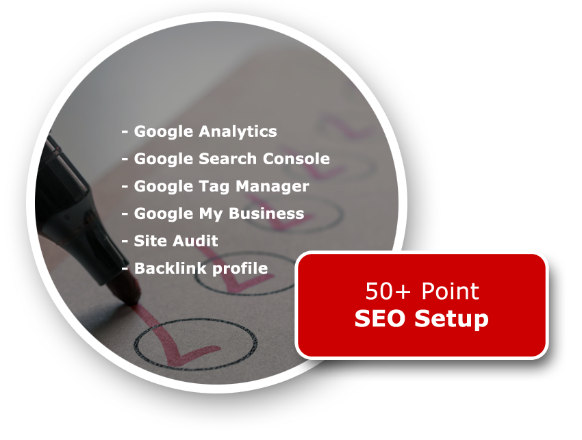STEP 3 – 50+ POINT SEO SETUP