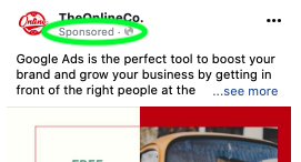 Sponsored banners appear on your ads when you PPC.